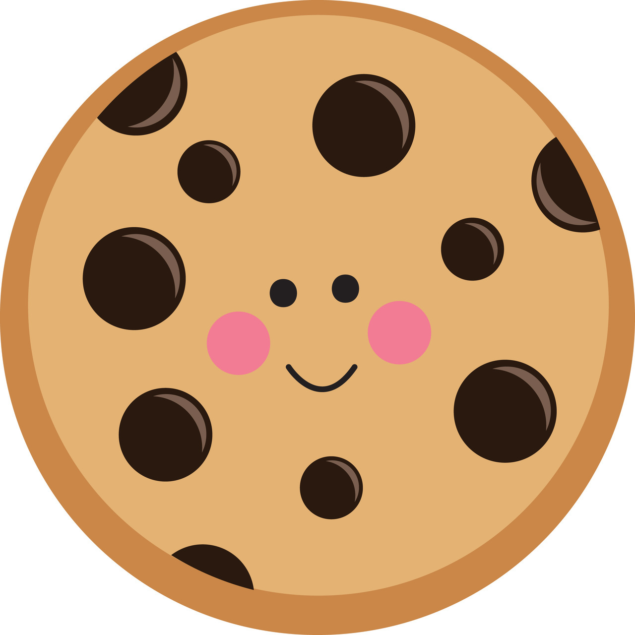 1280x1280 Circle Clipart Biscuit