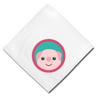 190x190 Cute Pink Pig With Purple Circle Gift Bandana Spreadshirt