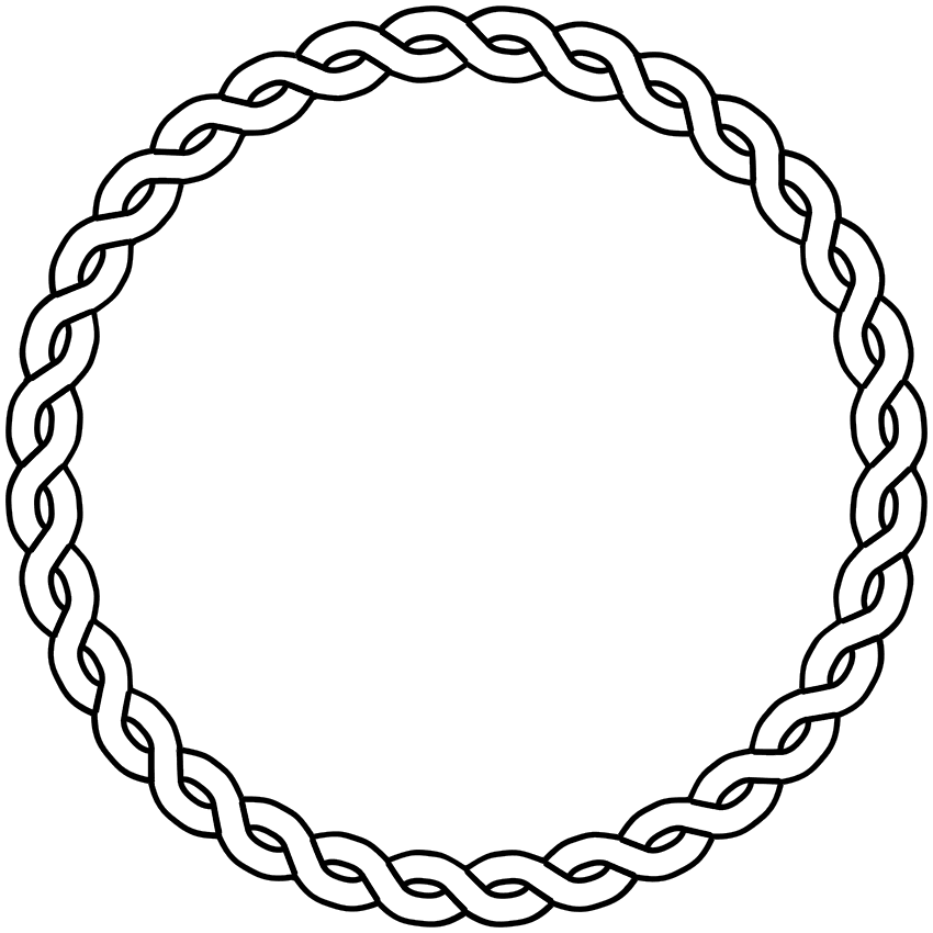 850x850 Rope Clipart Cute Frame