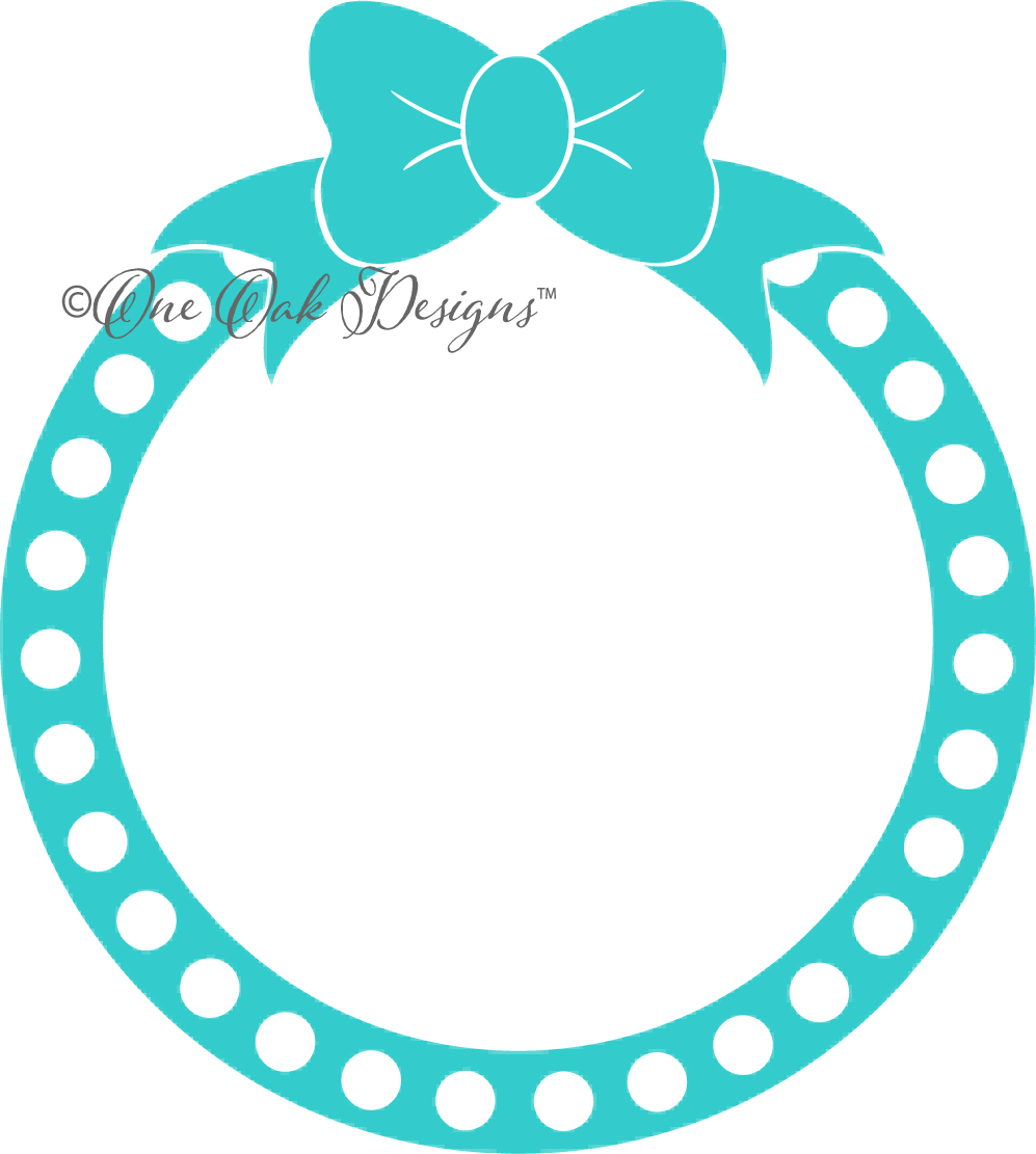 997x1111 Bow Dot Circle Monogram Frame Svg