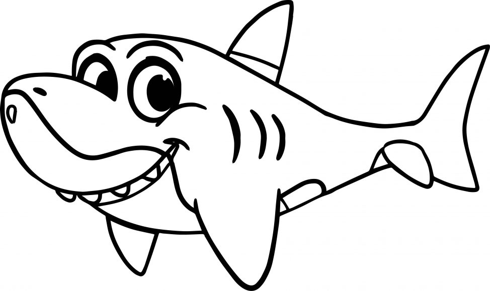 974x579 Coloring Pages Shark Colouring Pages Morphle Cartoon My Cute