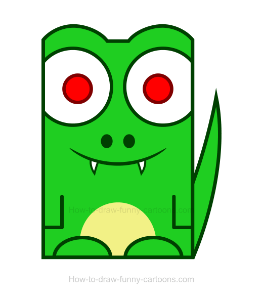 520x595 Crocodile Clipart 2