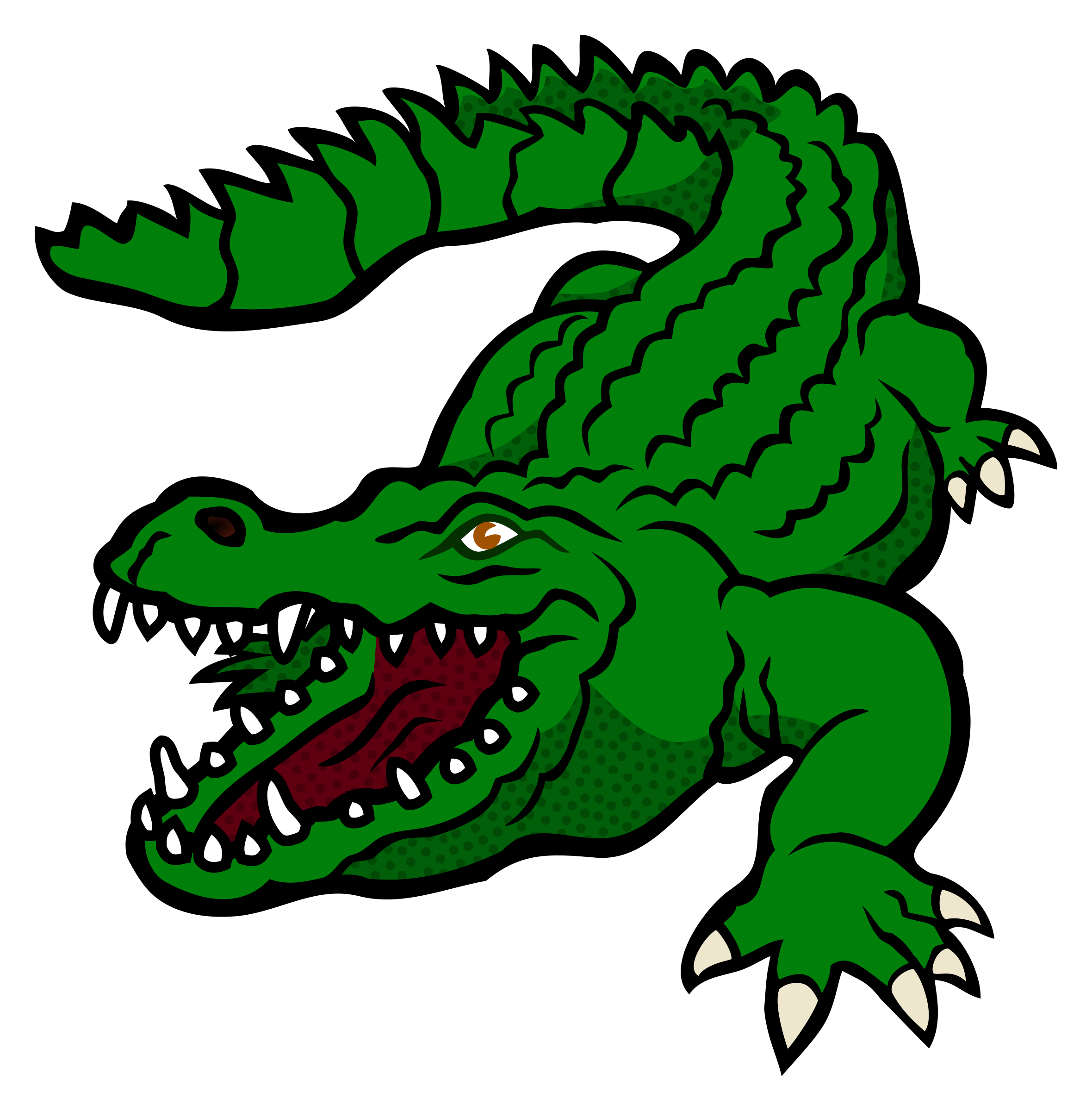 2360x2400 Crocodile Clipart Printable