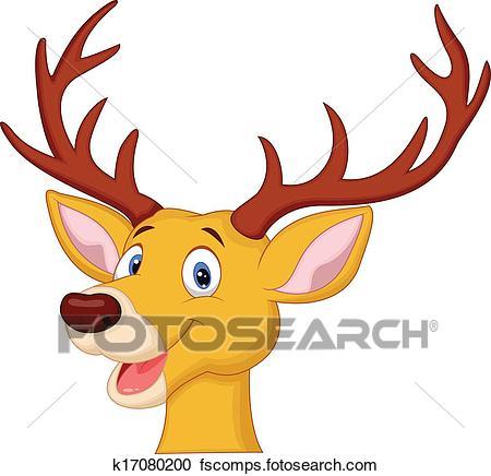 450x436 Clipart Of Cute Deer Head Cartoon K17080200