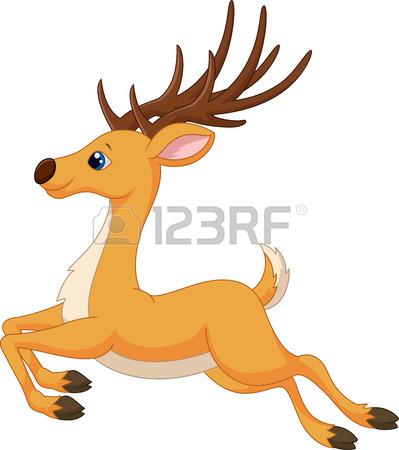 399x450 Cute Deer Cartoon Running Royalty Free Cliparts, Vectors,