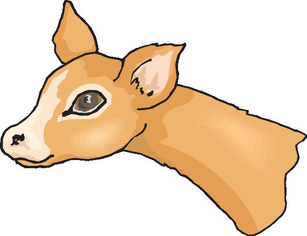 600x463 Cute Deer Head Clip Art