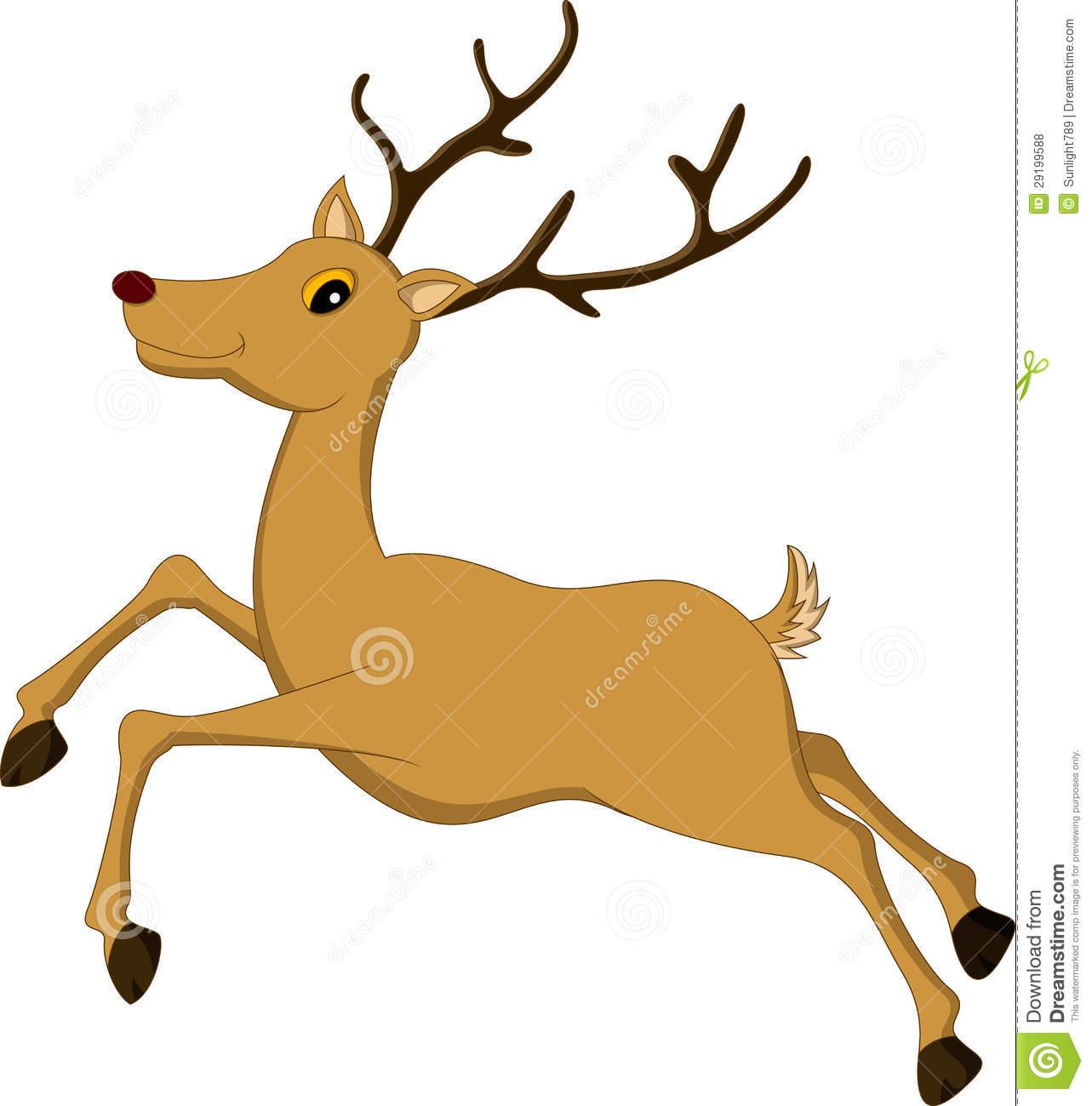 1283x1300 Deer Running Clipart