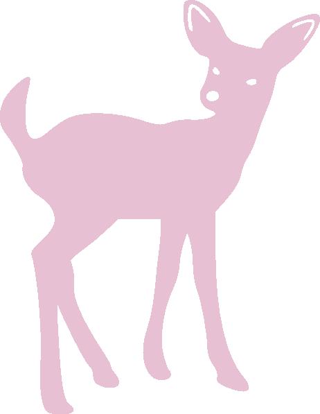 462x597 Pink Cute Deer Clip Art