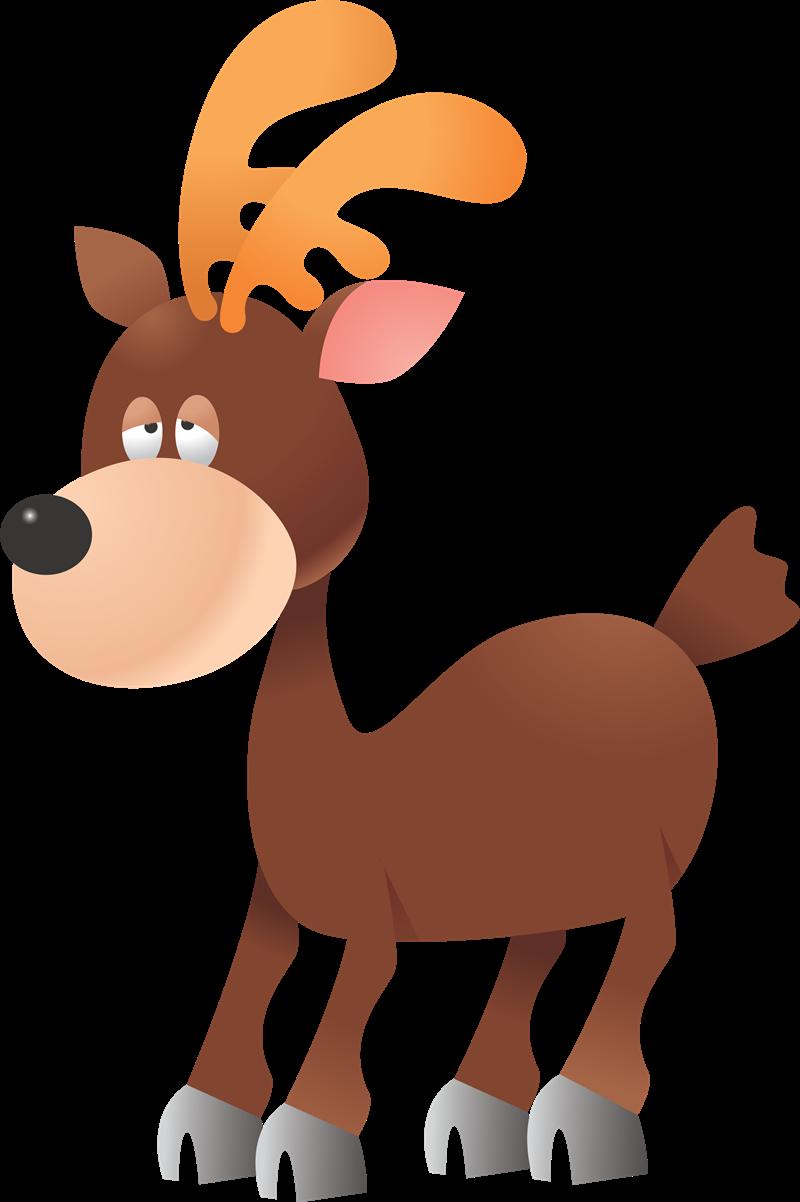 800x1202 Cartoon Deer Clipart