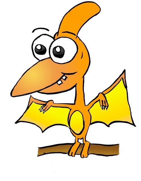 496x635 Pterodactyl Cute Dinosaur Cartoon Clipart