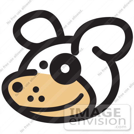 450x450 Royalty Free Cartoon Clip Art Of A Cute Dog With A Spot Over His