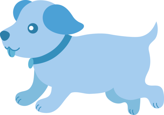 550x387 Cute Blue Puppy Running