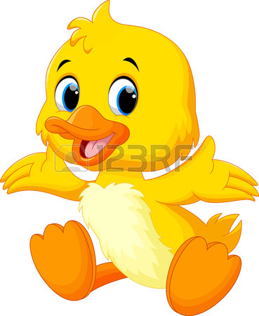 369x450 Cute Baby Duck Lifted Its Wings Royalty Free Cliparts, Vectors