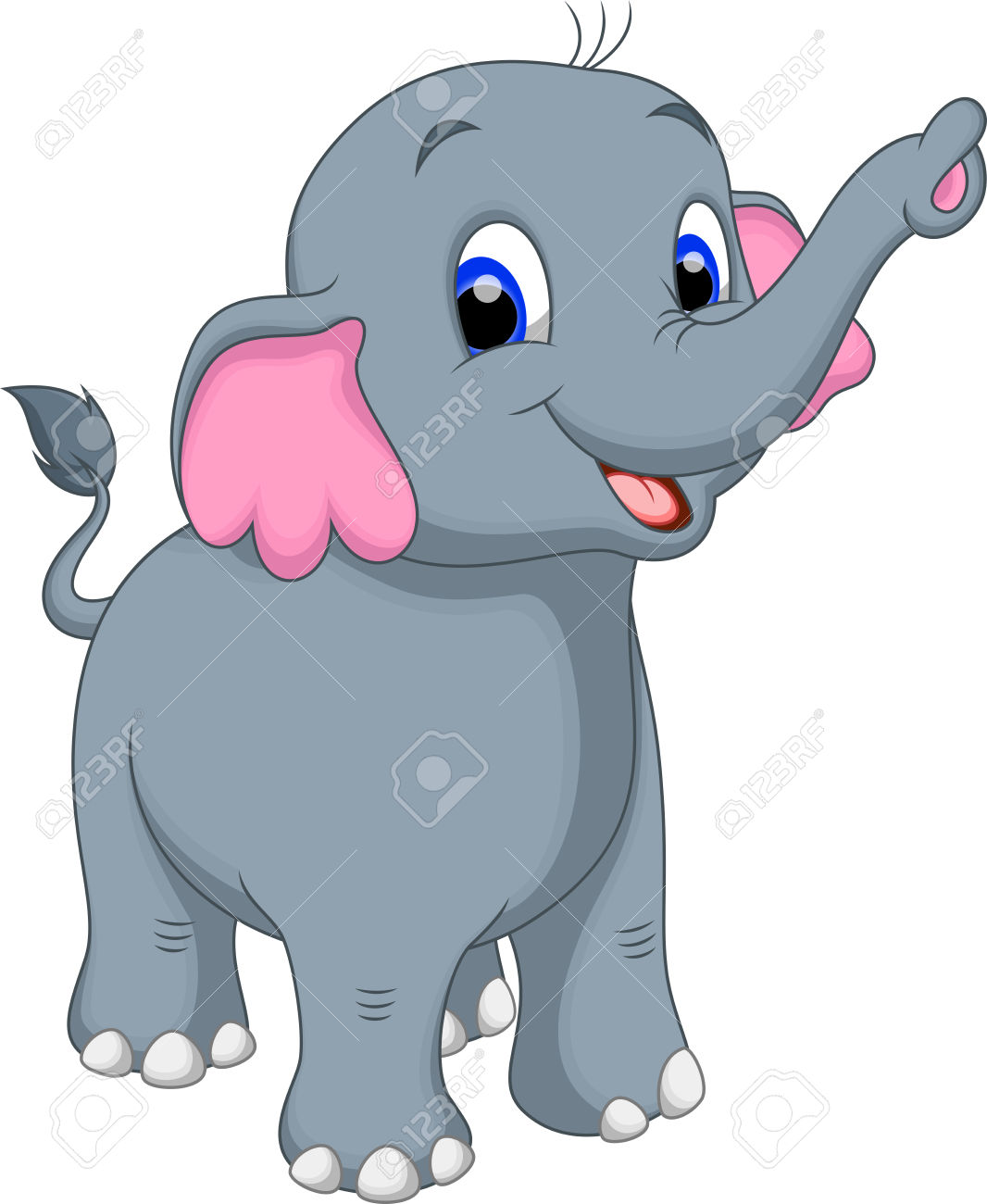 Cute Elephant Clipart   Free download on ClipArtMag