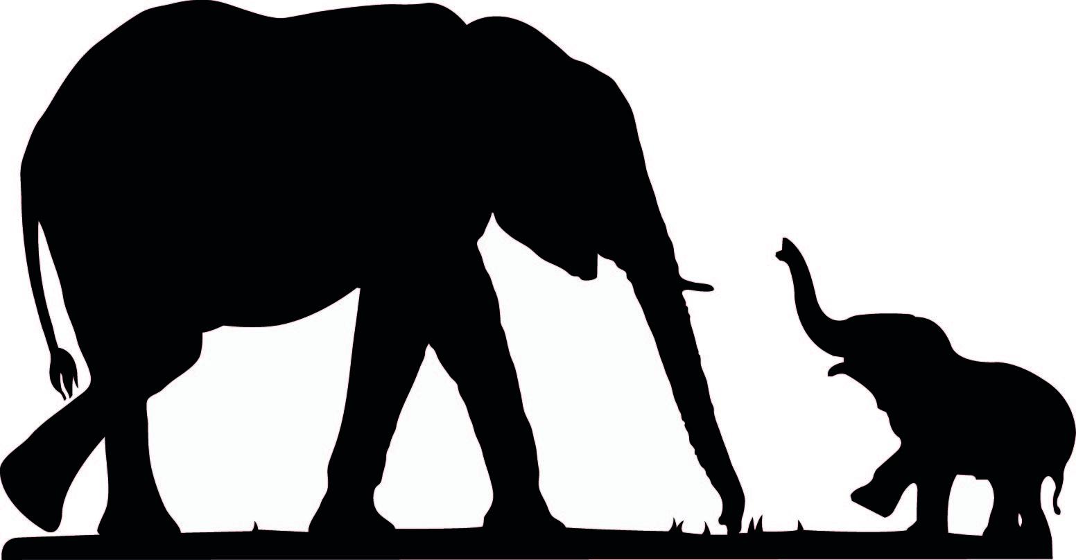 Cute Elephant Silhouette | Free download best Cute Elephant ...