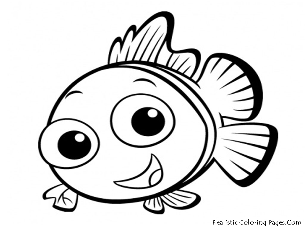 Cute Fish Clipart Black And White