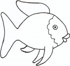 photograph relating to Fish Outline Printable identified as Adorable Fish Define Cost-free obtain most straightforward Lovely Fish Determine upon