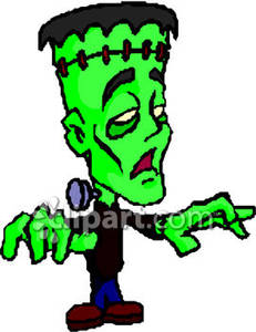 231x300 Scary Green Frankenstein Monster Royalty Free Clipart Picture