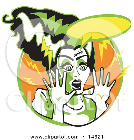 450x470 Bride Of Frankenstein Clipart Cute