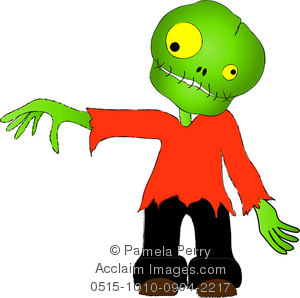 300x298 Clip Art Image Of A Cute Zombie Boy For Halloween