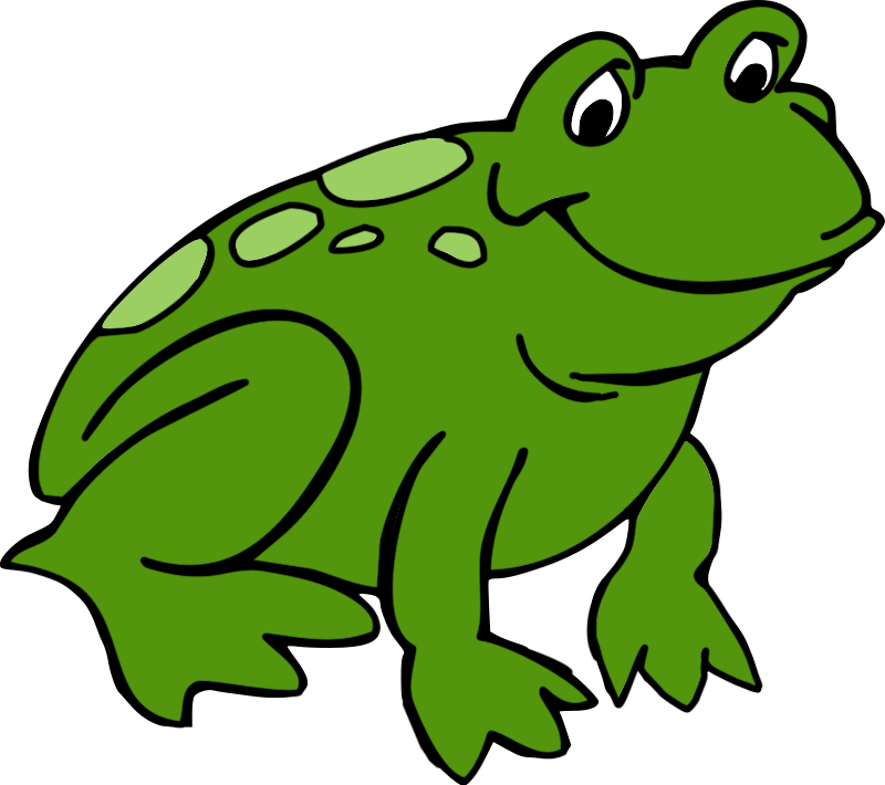 800x710 Cute Frog Clipart