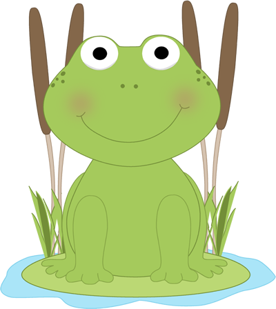 400x448 Frog In A Pond Clip Art