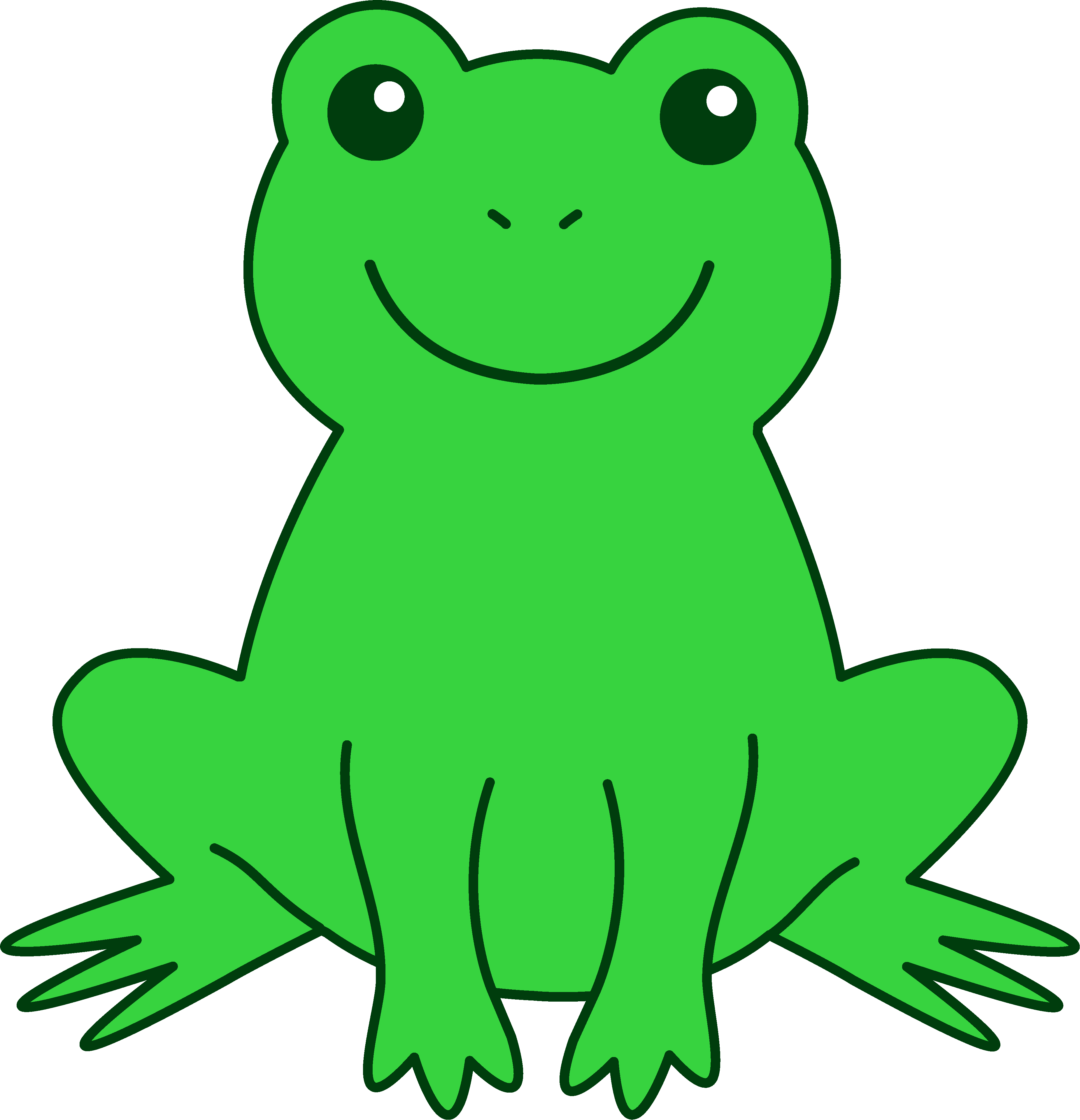 3704x3841 Happy Green Frog