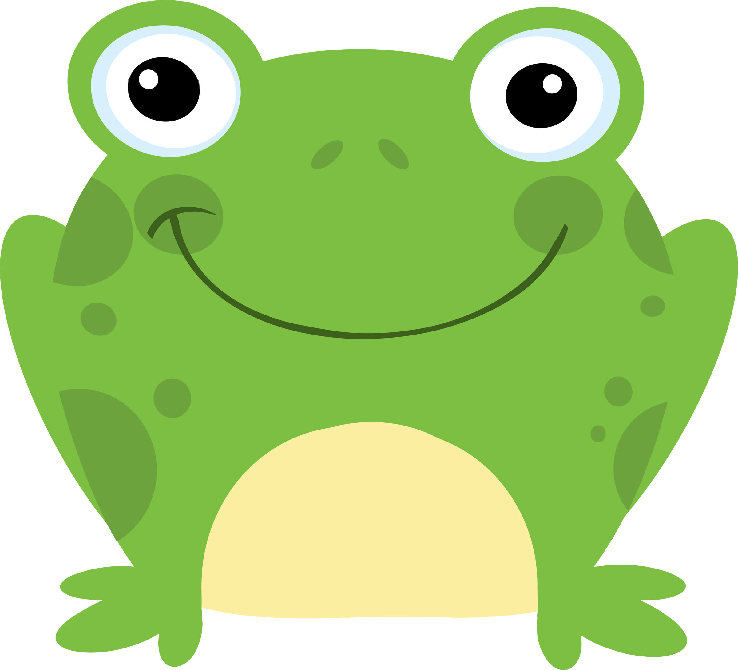 2400x2179 Preschool frog clipart