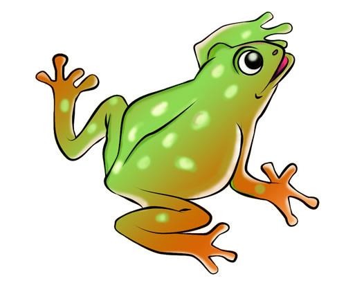 500x435 Cute Frog Clip Art