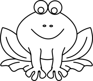 298x261 Black And White Frog Clipart