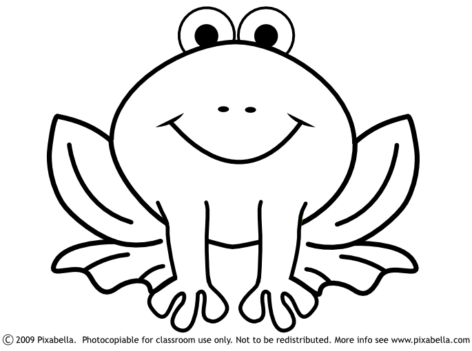685x510 Cute Frog Clipart Black And White Free Clipart