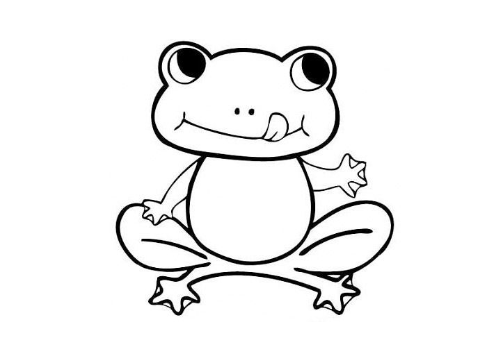 700x500 Cute Frog Coloring Pages To Print
