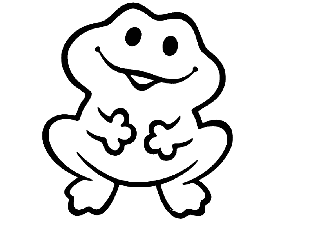1024x768 Frog Coloring Pages