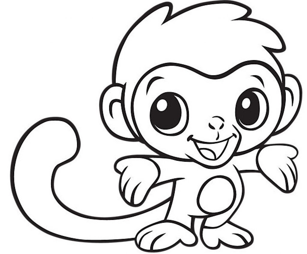 1024x845 Animal Mandala Coloring Pages Cute Monkey Coloring Pages Zombie