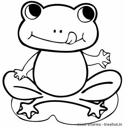 418x425 Coloring Pages Beautiful Coloring Pages Frogs Hungry Frog Page