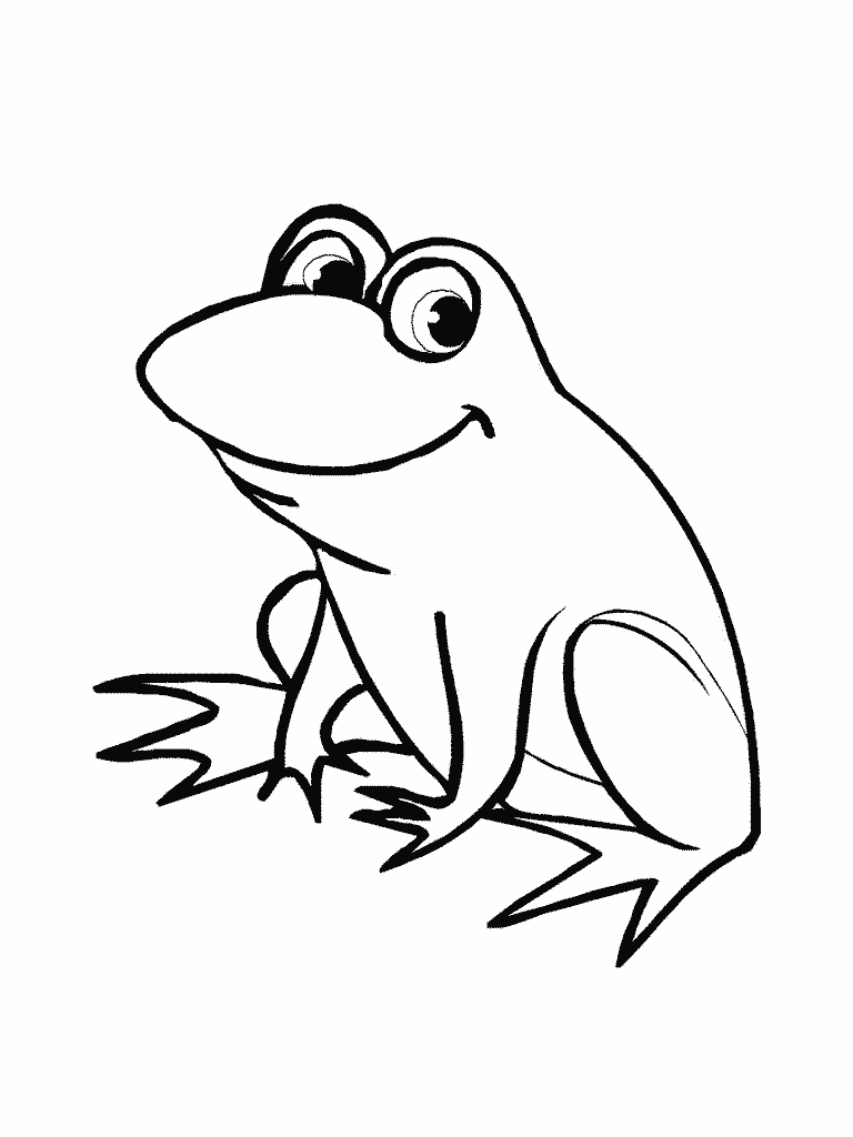 768x1024 Cute Frog Drawings