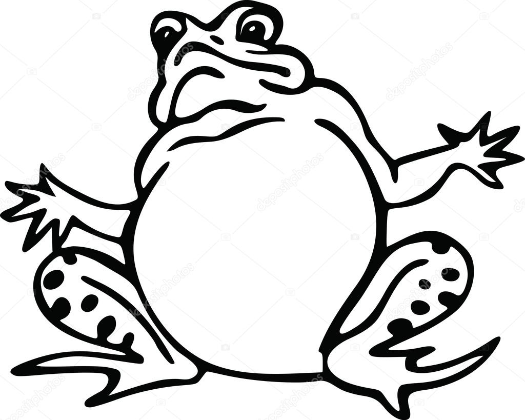 1024x819 Drawing Of A Cute Cartoon Frog Stock Vector Prawny