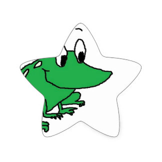 324x324 Frog Drawing Stickers Zazzle