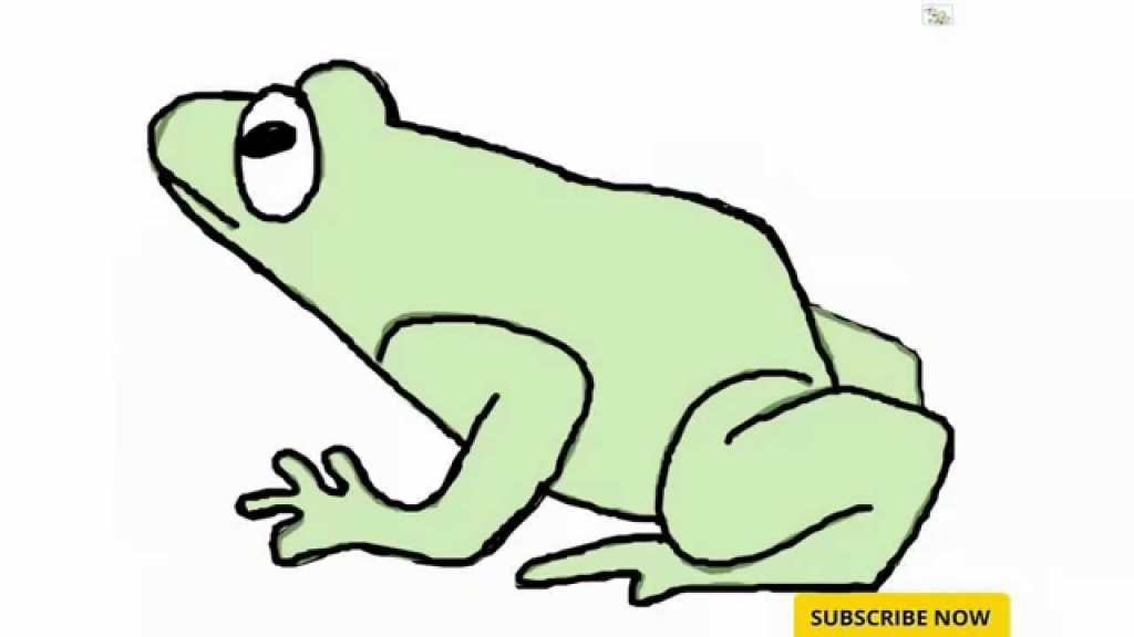 1024x576 How To Draw A Frog For Kids Cute Frog Drawing Free Download Clip