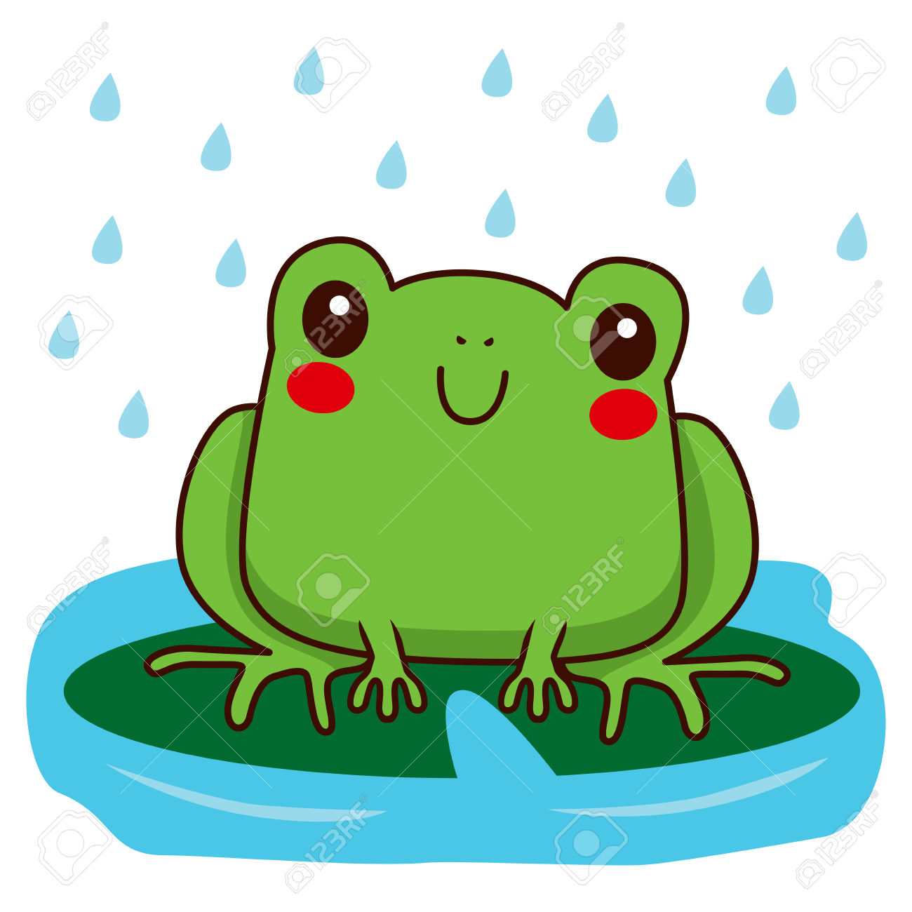 1300x1300 Tree Frog Clipart Rainy