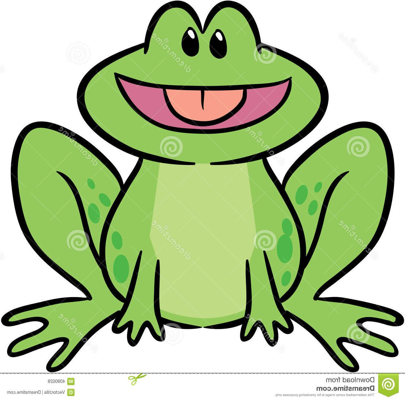 1300x1286 Unique Cute Frog Vector Illustration Drawing