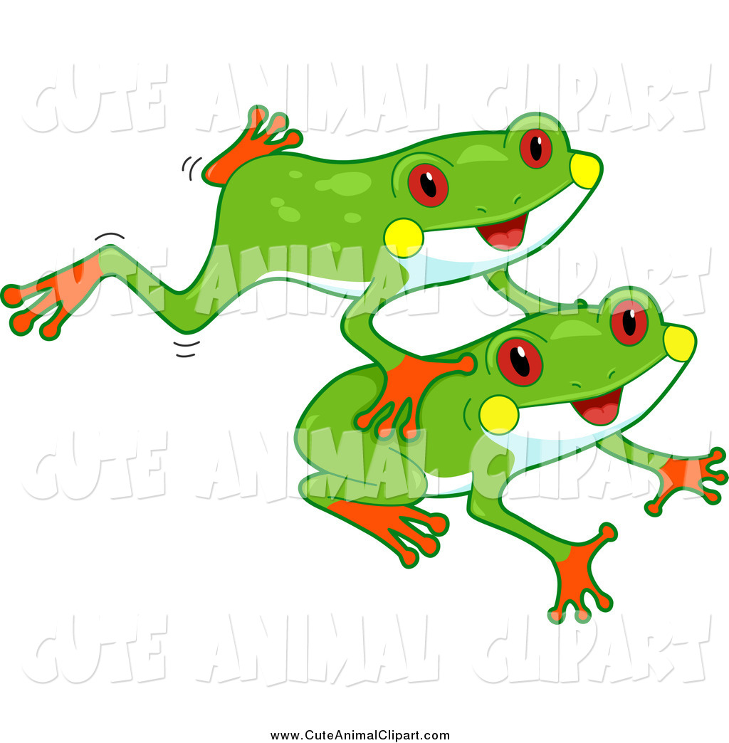 1024x1044 Vector Cartoon Clip Art Of A Cute Red Eyed Tree Frogs Leaping By