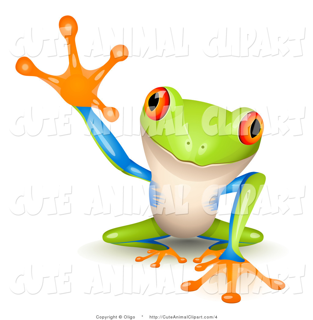 1024x1044 Clip Art Of A Cute Frog Reaching By Oligo