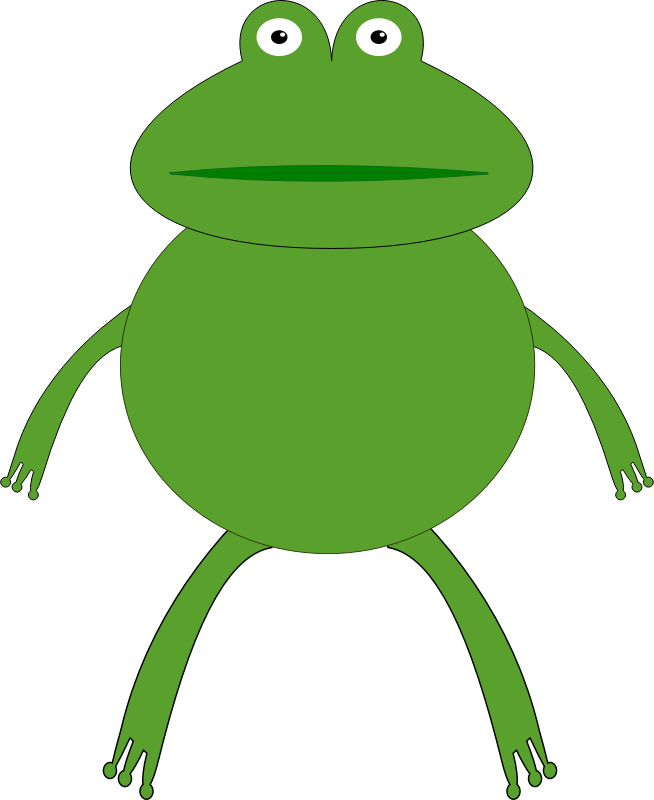 654x800 Cute Frog Clipart