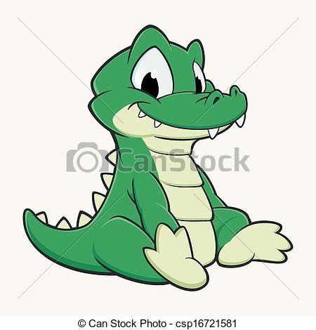 450x470 Cute Baby Alligator Cartoon