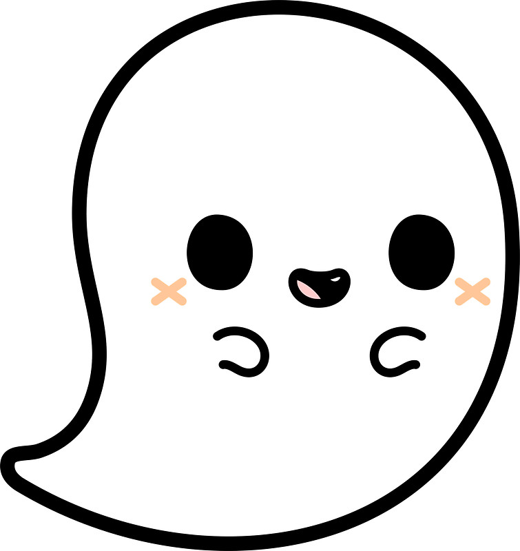 755x800 Spooky Clipart Cute Ghost