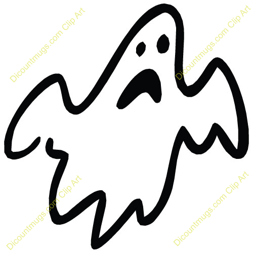 500x500 Flying Ghost Clipart