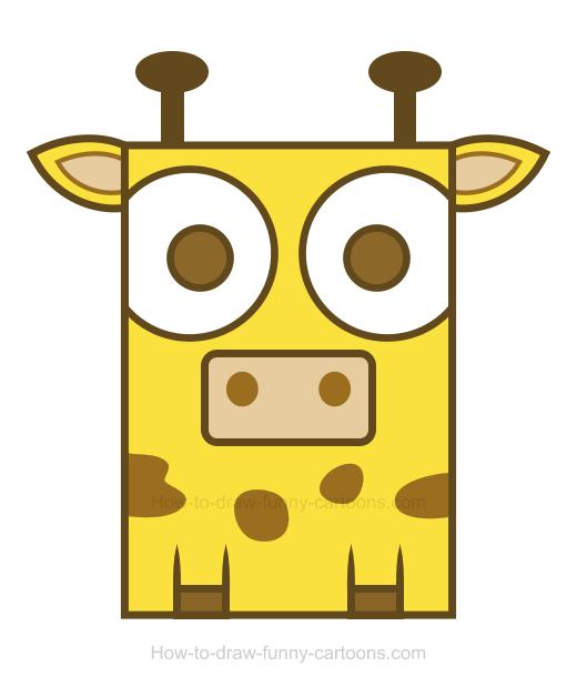 520x628 Giraffe Clipart Simple
