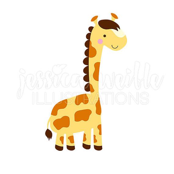 570x570 Lil Giraffe Cute Digital Clipart, Cute Giraffe Clip Art, Safari