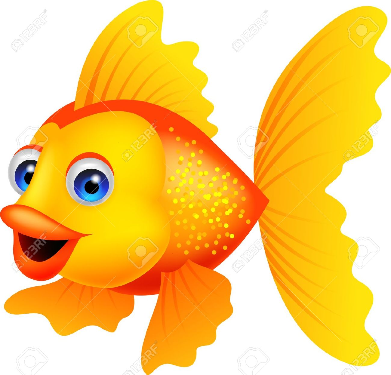 1300x1247 Gold Fish Clipart Different Fish